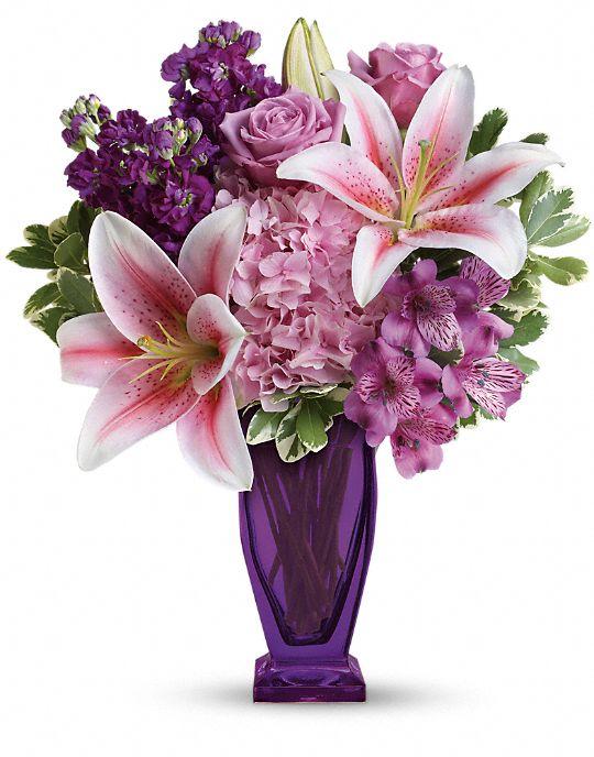 Teleflora's Blushing Violet Bouquet Flowers
