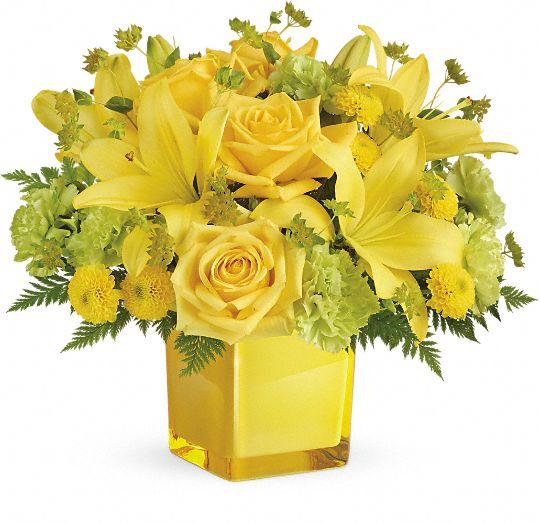 Teleflora's Sunny Mood Bouquet Flowers