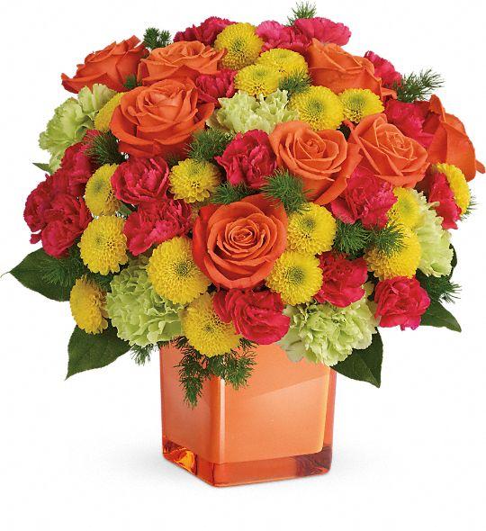 Teleflora's Citrus Smiles Bouquet Flowers