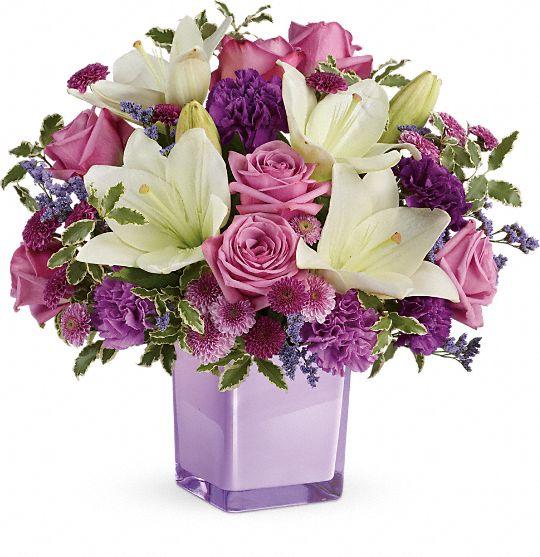 Teleflora's Pleasing Purple Bouquet Flowers