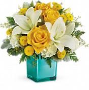 Bouquet de fleurs Rire doré