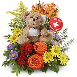 Bouquet de fleurs Prompt rétablissement