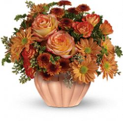 Teleflora's Joyful Hearth Bouquet Flowers