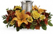 Glowing Gathering Centerpiece by Teleflora Flowers