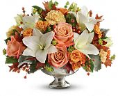 Teleflora's Harvest Shimmer Centerpiece, picture
