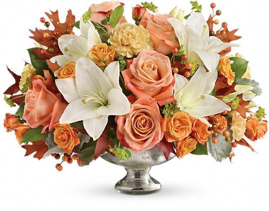 Teleflora's Harvest Shimmer Centerpiece Flowers