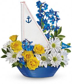 Ahoy It's A Boy Bouquet Flowers