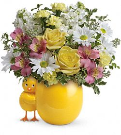 Bouquet Piaillement mignon - Fleurs rose bébé
