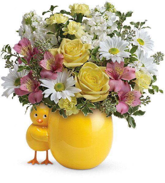 Teleflora's Sweet Peep Bouquet - Baby Pink Flowers