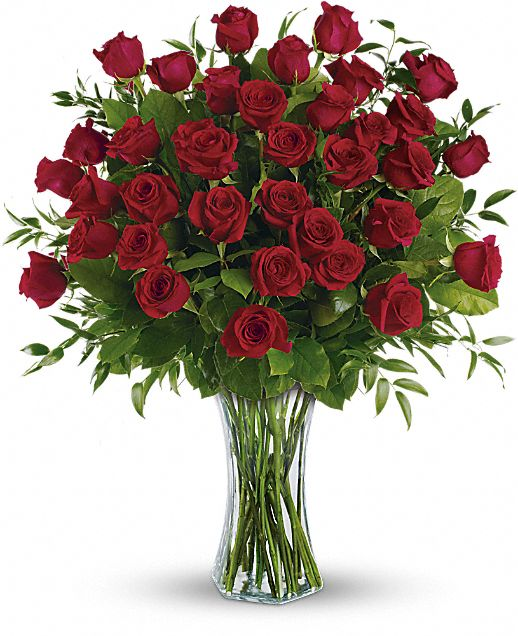 Breathtaking Beauty - 3 Dozen Long Stemmed Roses Flowers
