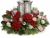 Teleflora's Holly Jolly Centerpiece Flowers