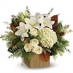 Bouquet de fleurs Bois enneigés