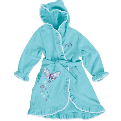 Butterfly Appliquéd Terry Robe