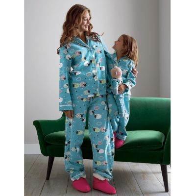 Mother, Daughter & Doll Wooly Flannel Pajamas