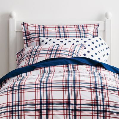 Lexington Plaid Percale Bedding