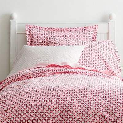 Trellis Dot Percale Bedding