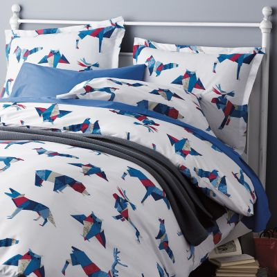 Origami Animals Percale Bedding