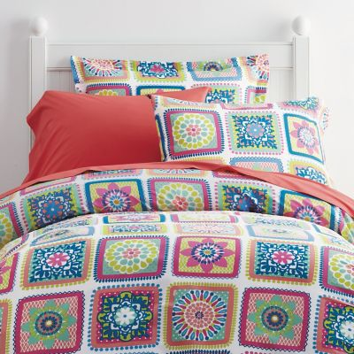 Crochet Squares Percale Bedding