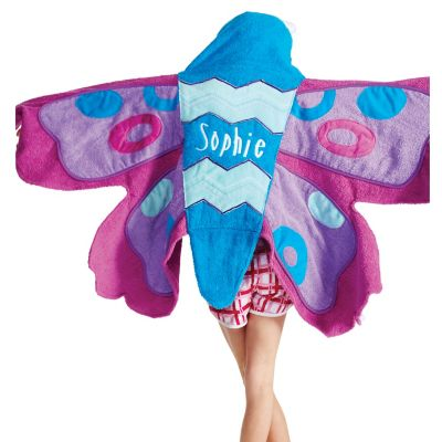 Flutterby Butterfly Hooded Towel