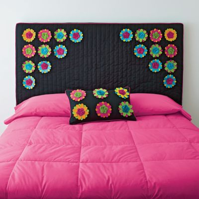 Headboard Covers and Decorative Pillows