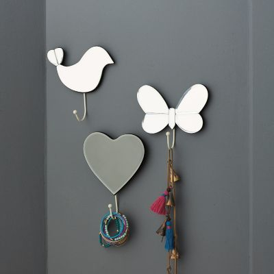 3-Pc. Mirrored Wall Hooks