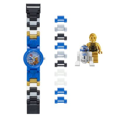 Lego Star Wars Watch with 2 Minifigures - R2D2 & C3PO