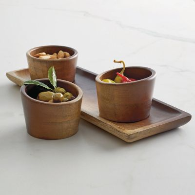 Platter with 3 Cups