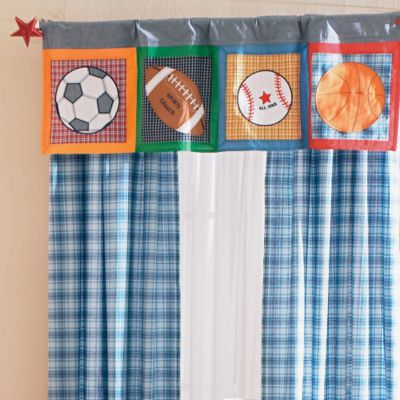 Play Ball Panel and Valance