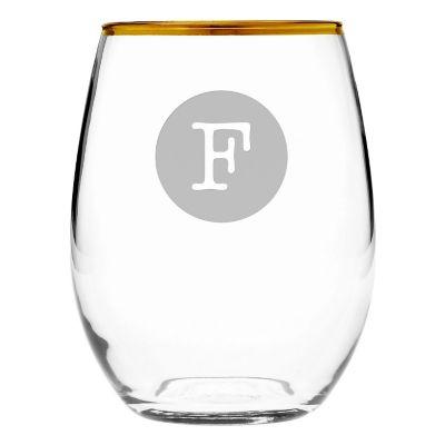 Rimmed Stemless Glass