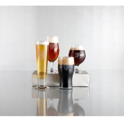 Engravable Craft Beer Glasses, Set of 4