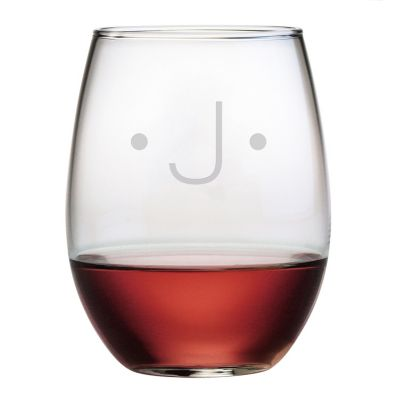 Engravable Stemless Wine Glasses, Set of 4