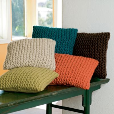SIMPLE KNITTING PATTERNS FOR CUSHION COVERS   KNITTING PATTERN