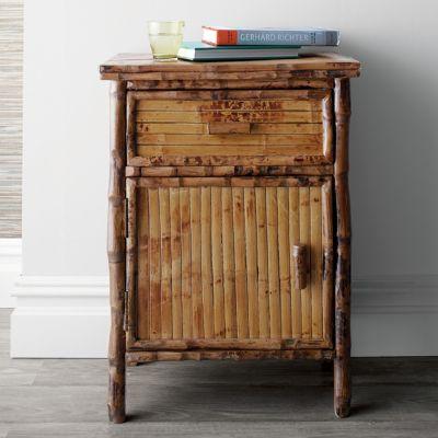 Rattan Bamboo Side Cabinet