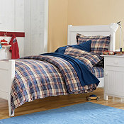 York Plaid Flannel Comforter Cover/Duvet Cover