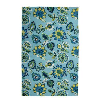 Jacobean Blue Floral Rug
