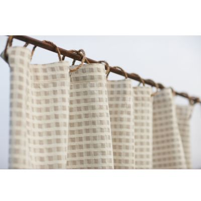 Birch Organic Cotton and Linen Shower Curtain by Coyuchi