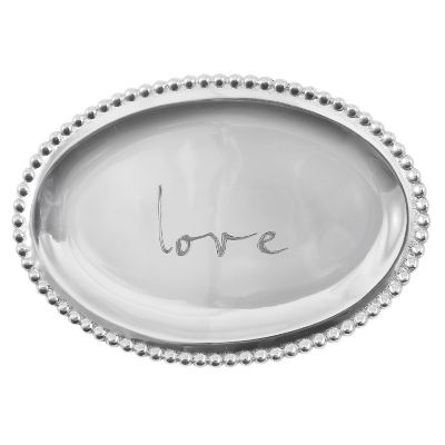 Love Oval Tray by Mariposa