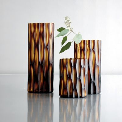Bamboo Glass Vase