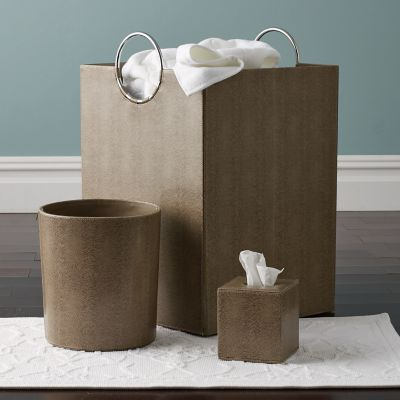 Faux Leather Bath Accessories