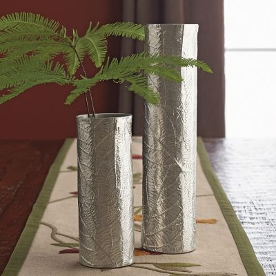 Embossed Leaf Vases
