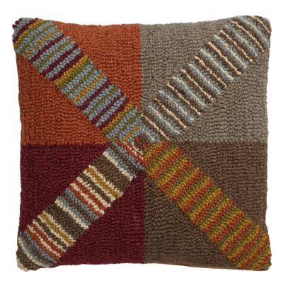 Stratton Hand-Hooked Pillow Cover