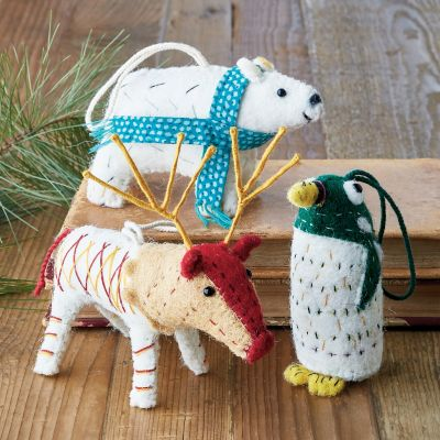 Forest Friends Felt Holiday Ornaments