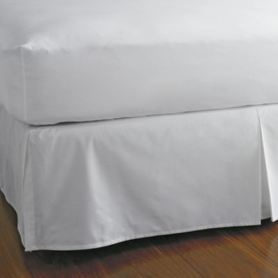 "Classic Percale Solid Tailored Bedskirt, 14"" Drop"