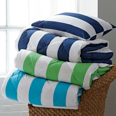 St. Tropez® Mariner Stripe TCS® Down and TCS® Down-Free™ Comforter & Sham