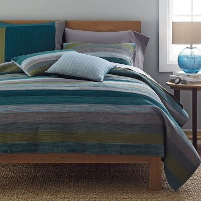 Weston Blue Stripe Quilt / Sham