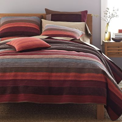 Weston Red Stripe Quilt