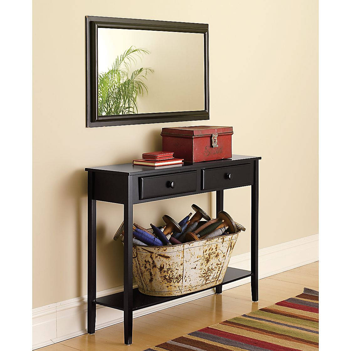 Bristol Mirror and Console - Furniture -Tables & Accent Tables :  entry console table