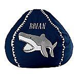 Shark 3-D Appliqued Bean Bag Chair Cover