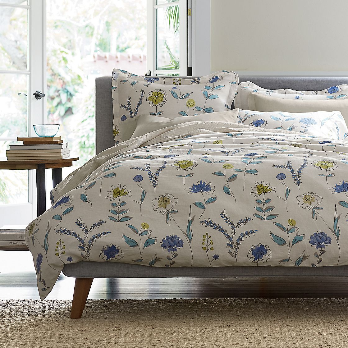 Dayton Floral Linen Sheets Amp Bedding Set The Company Store