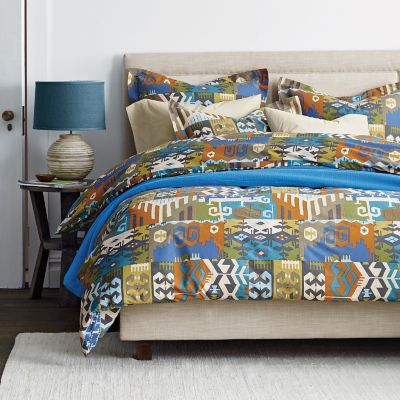Tribal Patch Percale Duvet Cover